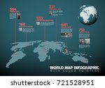 drk teal world map infographic... | Shutterstock .eps vector #721528951