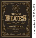 vintage typography label design ... | Shutterstock .eps vector #721534729