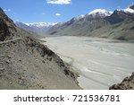 beautiful remote tajik national ... | Shutterstock . vector #721536781