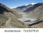 beautiful remote tajik national ... | Shutterstock . vector #721537915