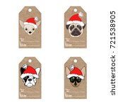 collection of  kraft paper tags ... | Shutterstock .eps vector #721538905