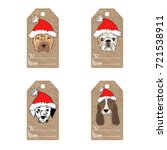 collection of  kraft paper tags ... | Shutterstock .eps vector #721538911