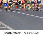 marathon running race | Shutterstock . vector #721540369