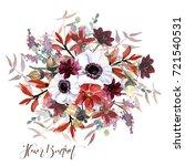 flowers bouquet | Shutterstock . vector #721540531