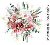 flowers bouquet | Shutterstock . vector #721540549
