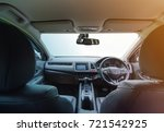 interior of modern car with... | Shutterstock . vector #721542925