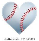a heart shaped baseball ball...