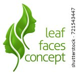 leaf face concept of leaves... | Shutterstock .eps vector #721543447