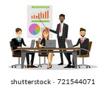 team of successful business... | Shutterstock .eps vector #721544071