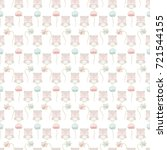 seamless baby pattern with cute ... | Shutterstock . vector #721544155