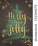 merry christmas and new year... | Shutterstock .eps vector #721544275