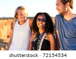 friends on vacation on a... | Shutterstock . vector #72154534
