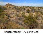 scenic desert landscape in big... | Shutterstock . vector #721545925