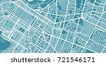 detailed vector map of asunci n ... | Shutterstock .eps vector #721546171