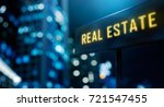 real estate led signage   3d... | Shutterstock . vector #721547455