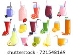 appetizing healthy colorful... | Shutterstock .eps vector #721548169