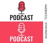 podcast. badge  icon  stamp ... | Shutterstock .eps vector #721548394