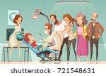 funny cartoon scene in dentist... | Shutterstock .eps vector #721548631