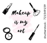 "poster with inscription ""makeup ... 