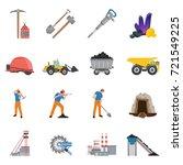 minerals mining set of flat... | Shutterstock .eps vector #721549225