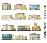 colored isolated municipal... | Shutterstock .eps vector #721549231