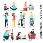babysitters people flat images