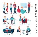 creative team coworking people... | Shutterstock .eps vector #721549591