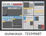 newspaper online template... | Shutterstock .eps vector #721549687