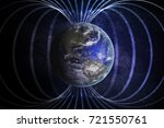 magnetosphere or magnetic field ... | Shutterstock . vector #721550761
