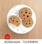 top view vector illustration of ... | Shutterstock .eps vector #721550854