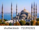 blue mosque  sultanahmet camii  ...   Shutterstock . vector #721552321