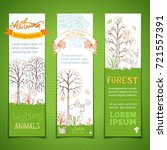 forest vertical banners set.... | Shutterstock .eps vector #721557391