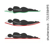 sleeping positions based on bed ... | Shutterstock .eps vector #721558495