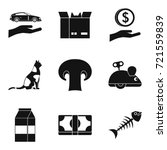 tomcat icons set. simple set of ... | Shutterstock .eps vector #721559839