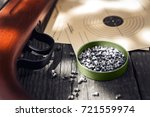pellets air rifle and shooting... | Shutterstock . vector #721559974