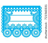 mexican papel picado blank text ... | Shutterstock .eps vector #721560331