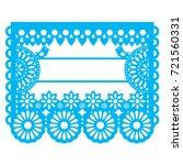 mexican papel picado blank text ... | Shutterstock .eps vector #721560331