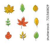 vector autumn leaves.  leaves... | Shutterstock .eps vector #721560829