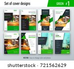 set of business cover design... | Shutterstock .eps vector #721562629
