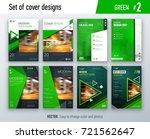 set of business cover design...   Shutterstock .eps vector #721562647