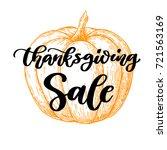 thanksgiving day sale vector... | Shutterstock .eps vector #721563169