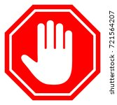 the stop sign is prohibited.   Shutterstock .eps vector #721564207