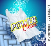 laundry detergent with close up ... | Shutterstock .eps vector #721566145