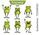 vector set of cute frog... | Shutterstock .eps vector #721569331