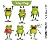 vector set of cute frog... | Shutterstock .eps vector #721569349