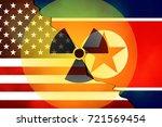 united states  us  vs north... | Shutterstock . vector #721569454