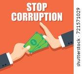 stop corruption concept... | Shutterstock .eps vector #721571029