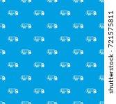garbage truck pattern repeat... | Shutterstock .eps vector #721575811