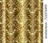gold baroque 3d seamless...   Shutterstock .eps vector #721576399