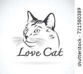 vector of cute cat on white... | Shutterstock .eps vector #721580389